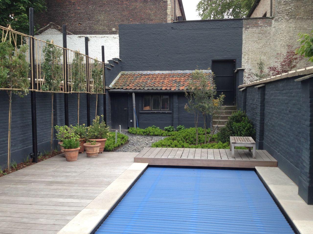 Tuin met zwembad in hartje gent de telder tuinen for Tuin met zwembad