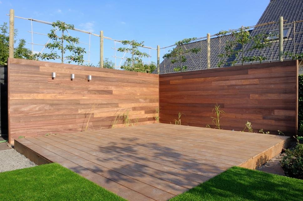 Resultaat tuin in zulte de telder tuinen - Bedek een houten terras ...