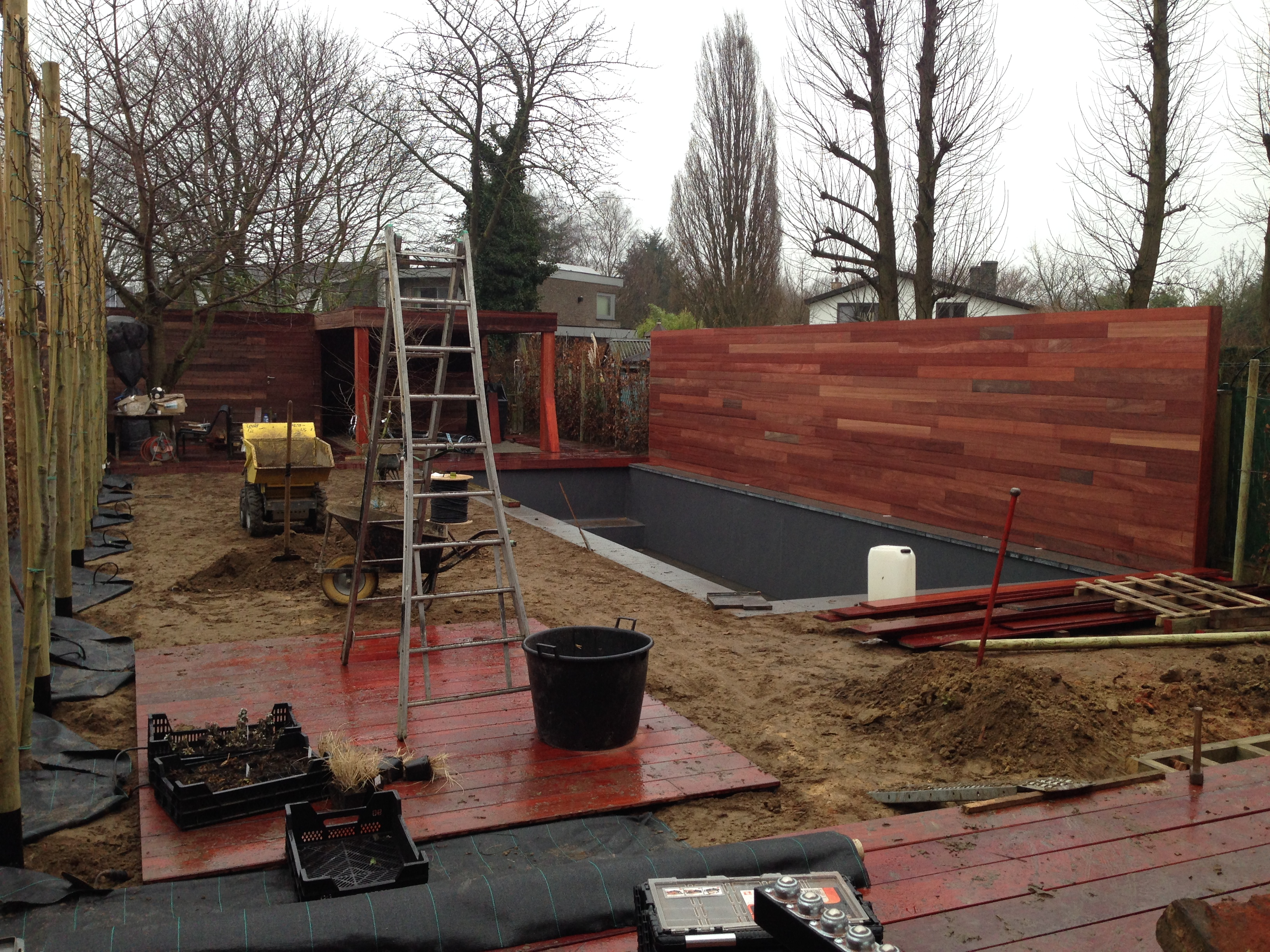 Beautiful sfeervolle moderne tuin with moderne tuin met for Afmetingen zwembad tuin