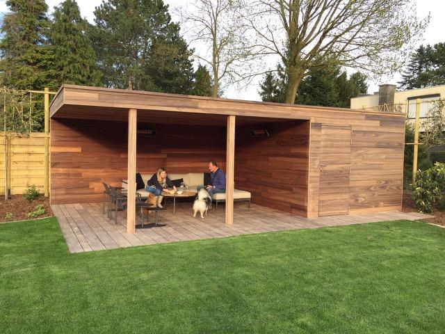 Hout op maat heerlijk genieten de telder tuinen - Overdekt terras in hout ...